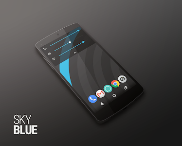 Sky Blue PACK - PA/CM11 Themes v1.4.0