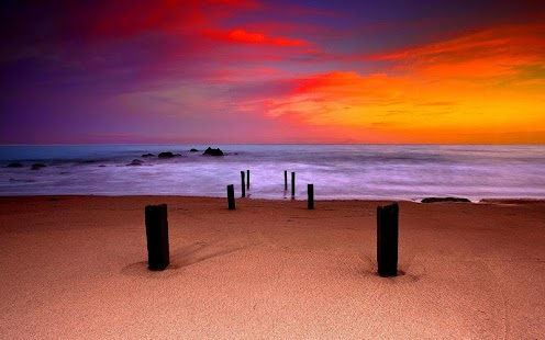 日落風景動態桌布