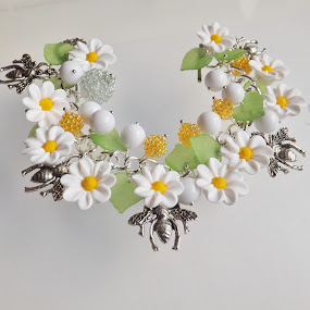 Daisy And Bee's Charm Bracelet by Janet Skoyles - Artistic Objects Jewelry
