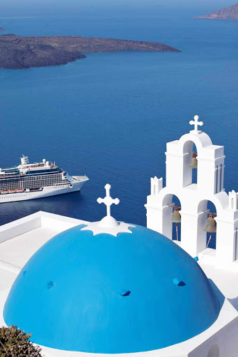 Celebrity_Solstice_Santorini - Celebrity Solstice will travel through the deep blue waters around the Greek Island of Santorini.