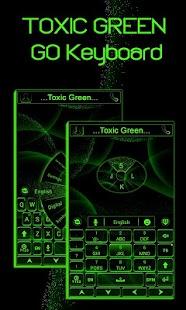 Toxic Green GO Keyboard Theme