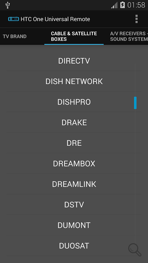 Universal Remote for HTC One - screenshot