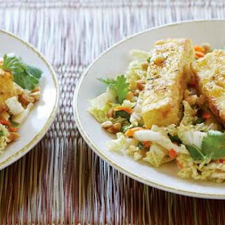 Warm Cabbage Salad with Crispy Tofu.