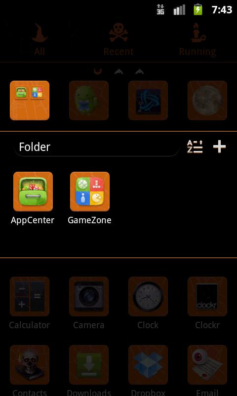 GO Launcher EX Theme Halloween - screenshot