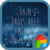 RainDrops dodol launcher theme
