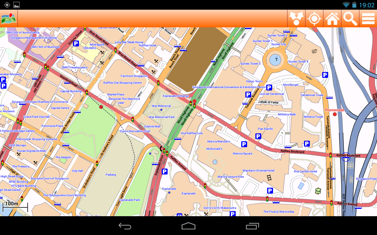 Singapore Offline mappa Map - screenshot