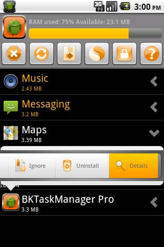 BKTaskManager - screenshot