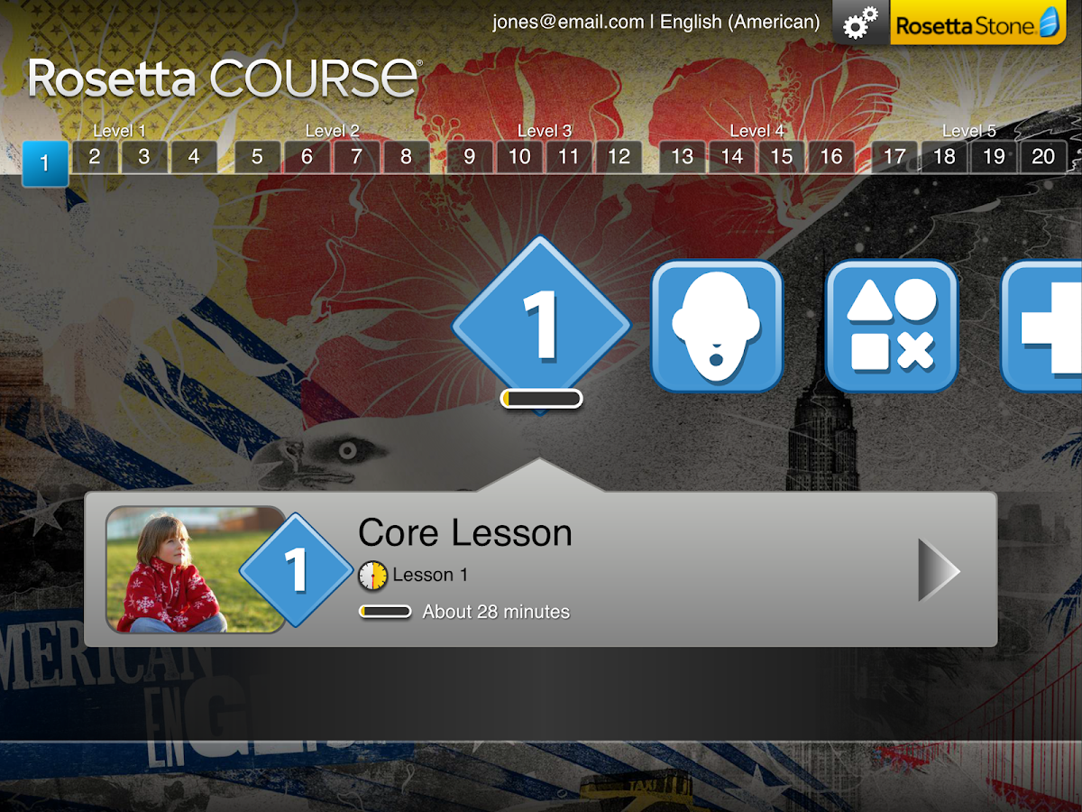 Rosetta Course - screenshot