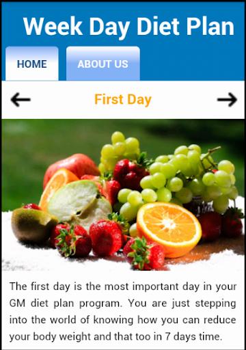 Week Days Diet