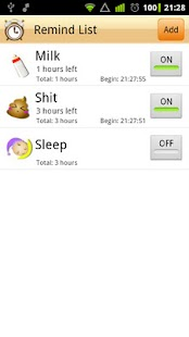 iBaby - baby activity tracker - screenshot thumbnail