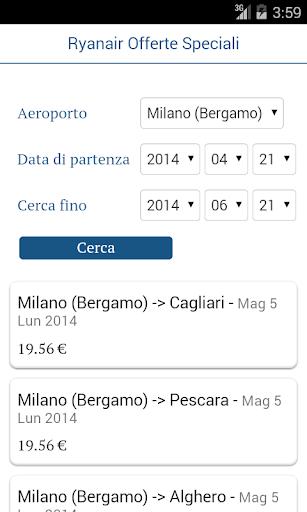 Ryanair - Offerte Speciali