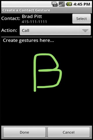 FingerMe with Gestures - screenshot