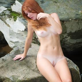 relaxing by Mg Photography - Nudes & Boudoir Artistic Nude ( breast, pose, sexy, model, nude, ginger, modeling, posing, boobs, red head,  )