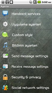 Handcent SMS Turkish Language - screenshot thumbnail