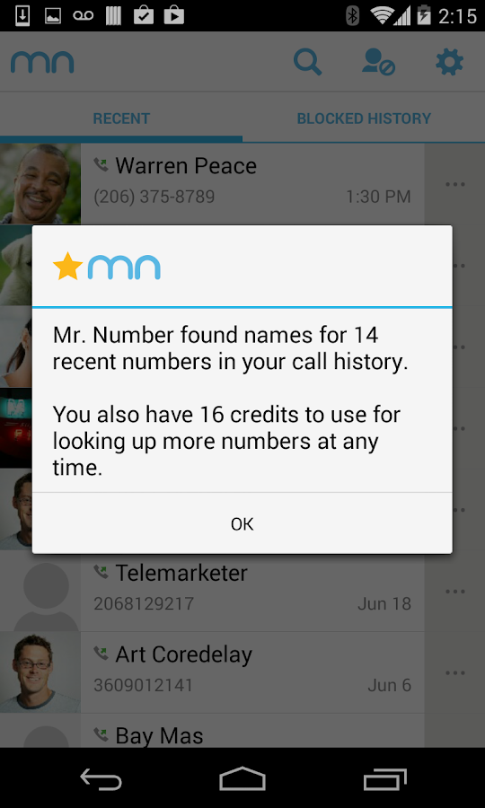 Mr. Number-Block calls & spam - screenshot