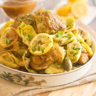 Lemon & Artichoke Slow Cooker Chicken.