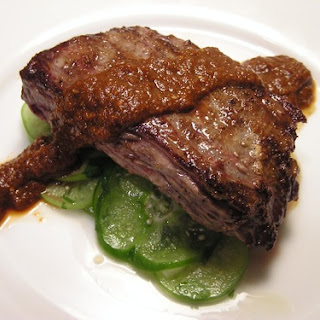 Skirt Steak with Tomatillos, Two Ways