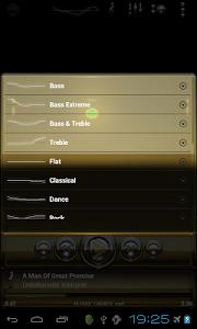 Poweramp skin Gold Glas deluxe v1.33