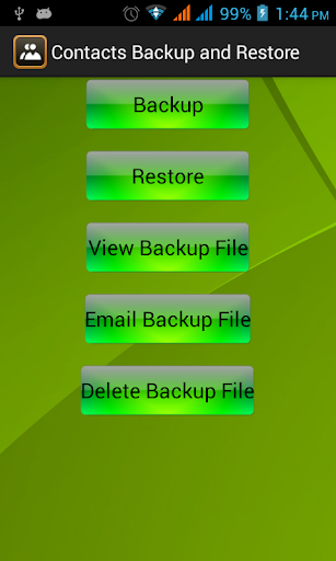 Contact Backup And Restore