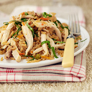 Asian Chicken and Fried Rice