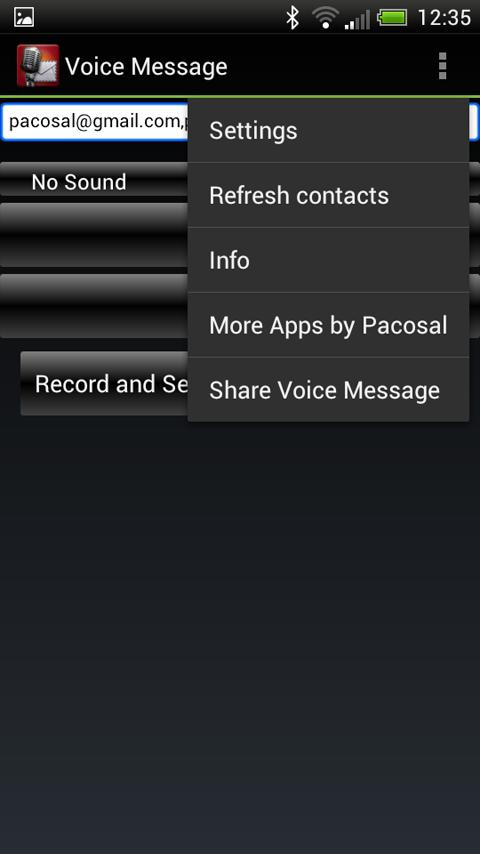 Voice Message - screenshot