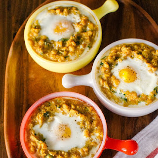 Spiced Lentils With Egg.