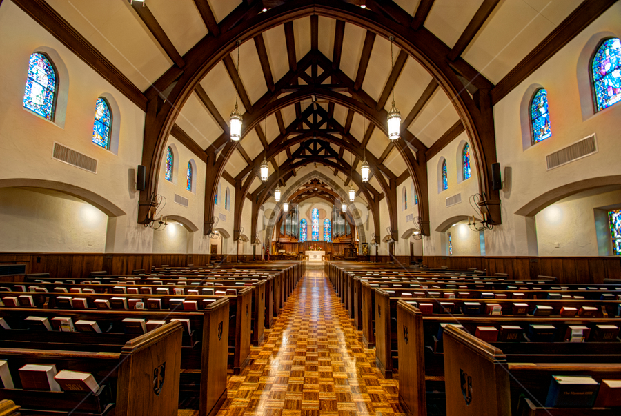 Sanctuary by Dave Clark - Buildings & Architecture Places of Worship ( interior, church, sanctuary, pews, worship,  )