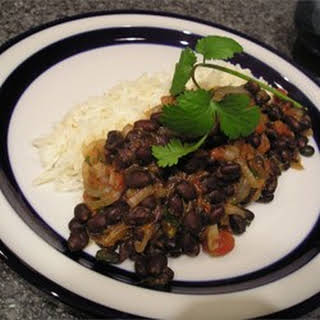 Robin's Sweet and Spicy Black Beans.