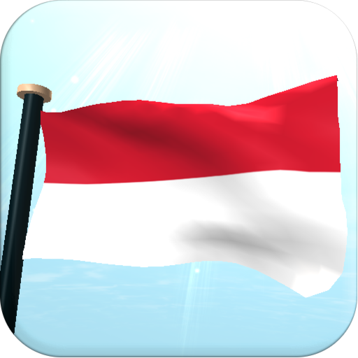 Indonesia Flag 3D Free