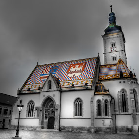 St. Marco Church by Alan Grubelić - Buildings & Architecture Public & Historical ( old church, croatia, square, zagreb, crkva svetog marka )