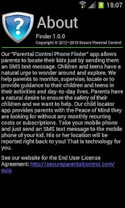 Parental Control Phone Finder screenshot 1