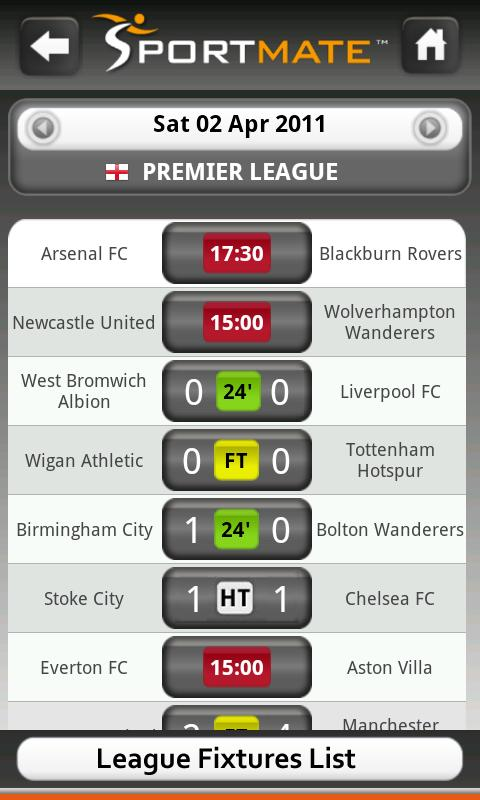 Football Scores Live (Soccer) - screenshot