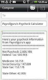 Paycheck Calc- screenshot thumbnail