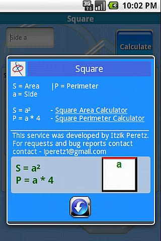 Calculadora áreas y perímetros - screenshot