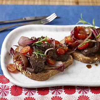 Balsamic-Marinated Steak With Charred Radicchio