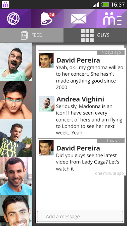 Moovz - Gay Social Network - screenshot