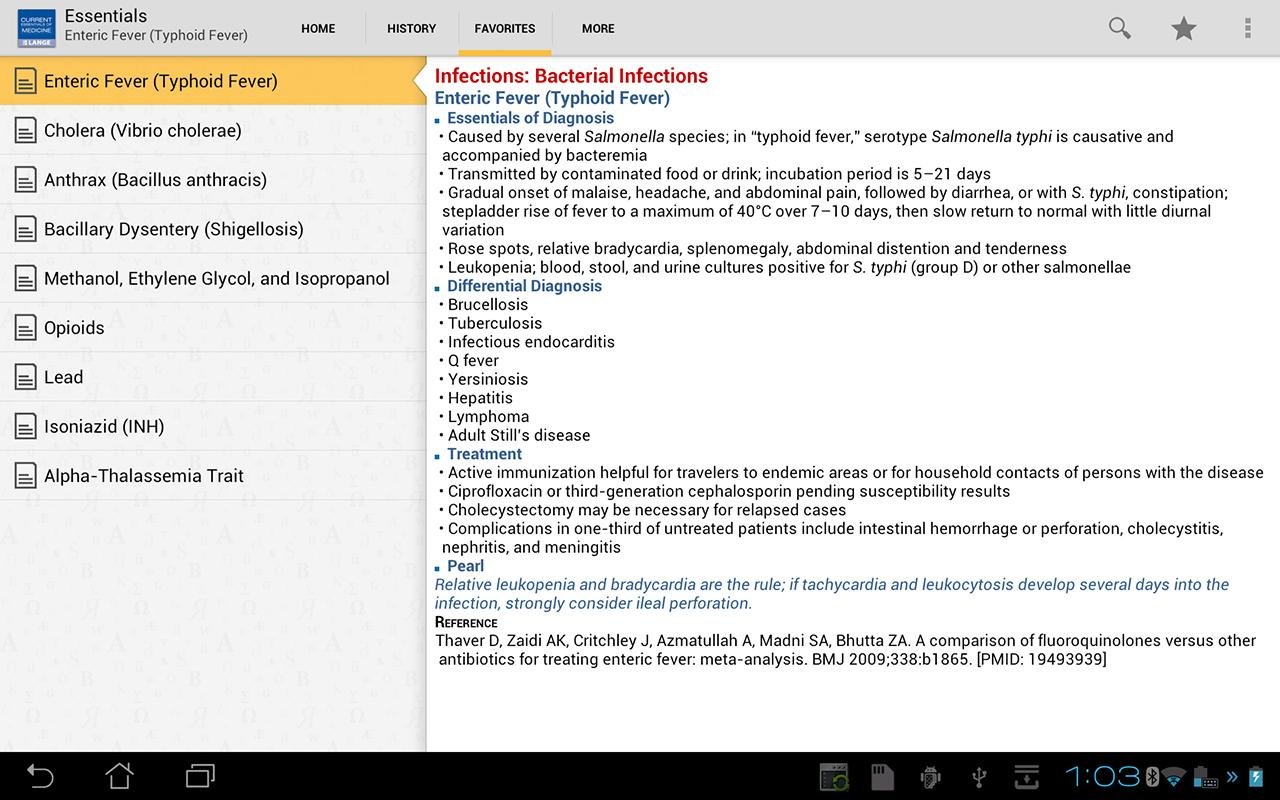 Current Essentials of Medicine - screenshot