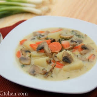 Russian Mushroom and Potato Soup.