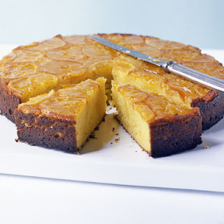 Sticky Clementine Cake With Cheesecake Cream