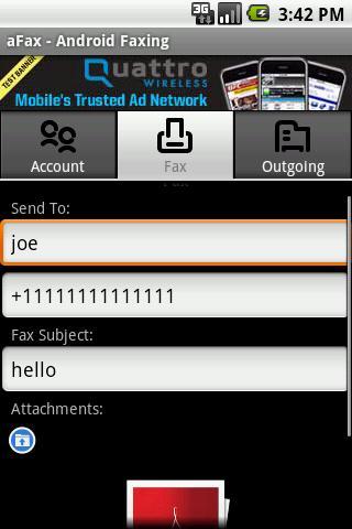 aFax - screenshot