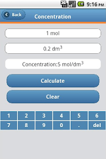 Chemistry Calculator- screenshot thumbnail