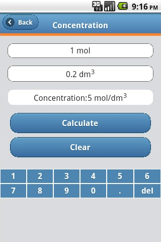 Chemistry Calculator- screenshot