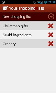 Shopping Lists (with widget) - screenshot thumbnail