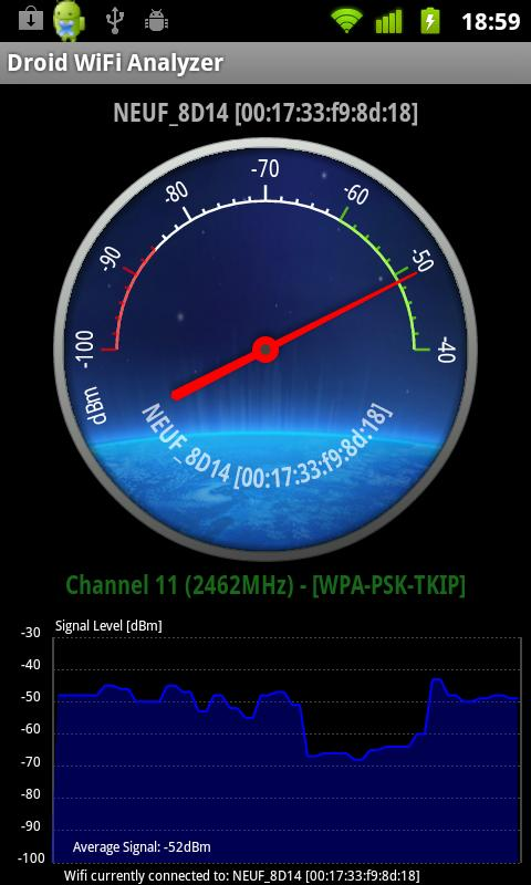 Droid Wifi Analyzer - screenshot