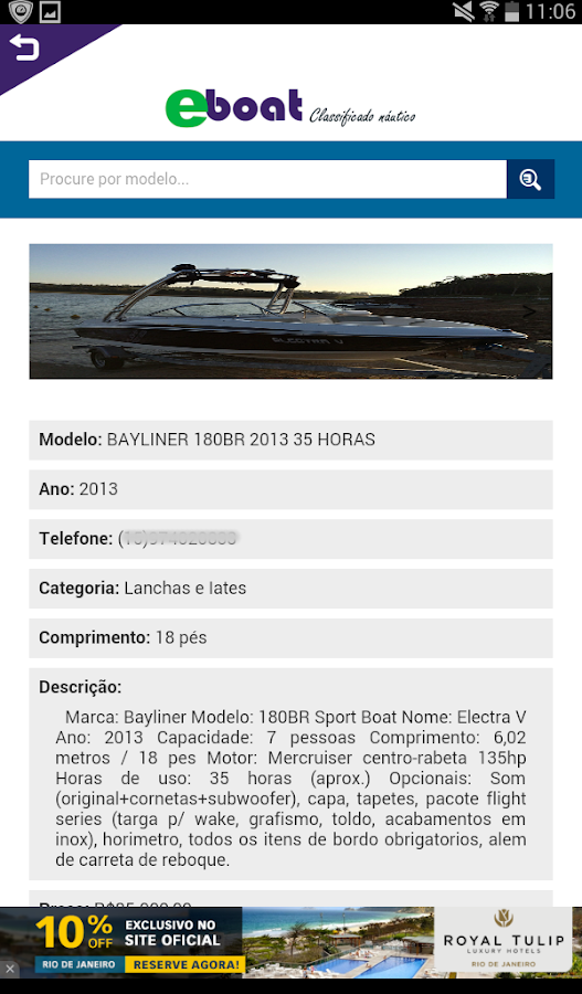 eboat classificado nautico- screenshot