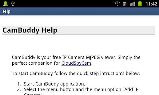Cam Buddy - screenshot thumbnail