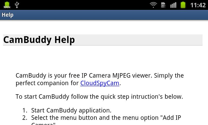 Cam Buddy - screenshot
