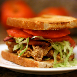 Fried Oyster and Bacon Sandwich