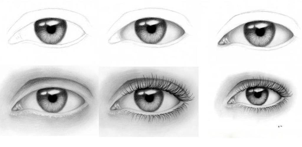 Картинки рисунки глаз поэтапно