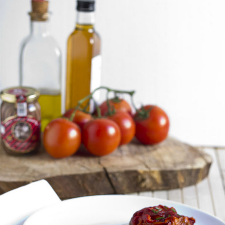 Grilled Red Peppers and Anchovy Salad Recipe